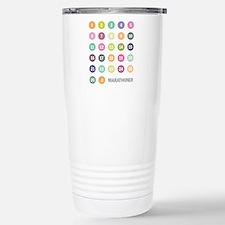 Marathon Numbers Pastel Travel Mug