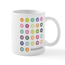 Marathon Numbers Pastel Mug