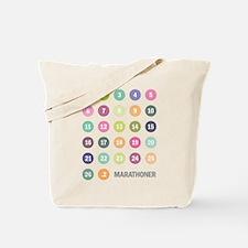 Marathon Numbers Pastel Tote Bag