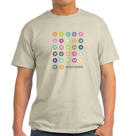 Marathon Numbers Pastel Light T-Shirt