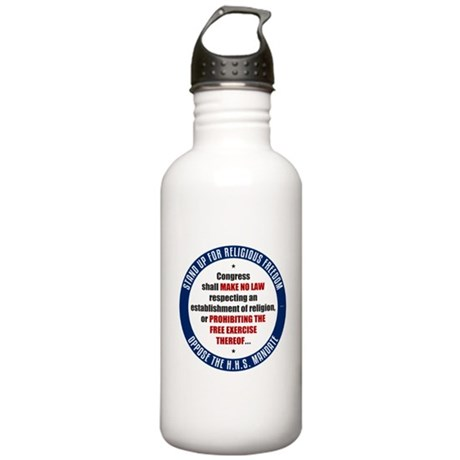 Oppose The HHS Mandate Stainless Water Bottle 1.0L