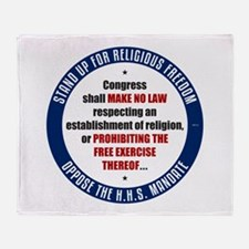Oppose The HHS Mandate Throw Blanket
