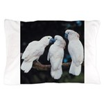 3 White Parrots Pillow Case