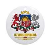 Latvia Round Ornaments
