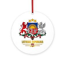 """Latvia COA"" Ornament (Round)"