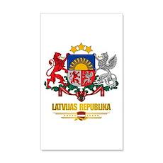 """""""Latvia COA"""" 38.5 x 24.5 Wall Peel"""