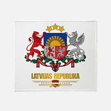 """Latvia COA"" Throw Blanket"