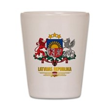 """""""Latvia COA"""" Shot Glass"""