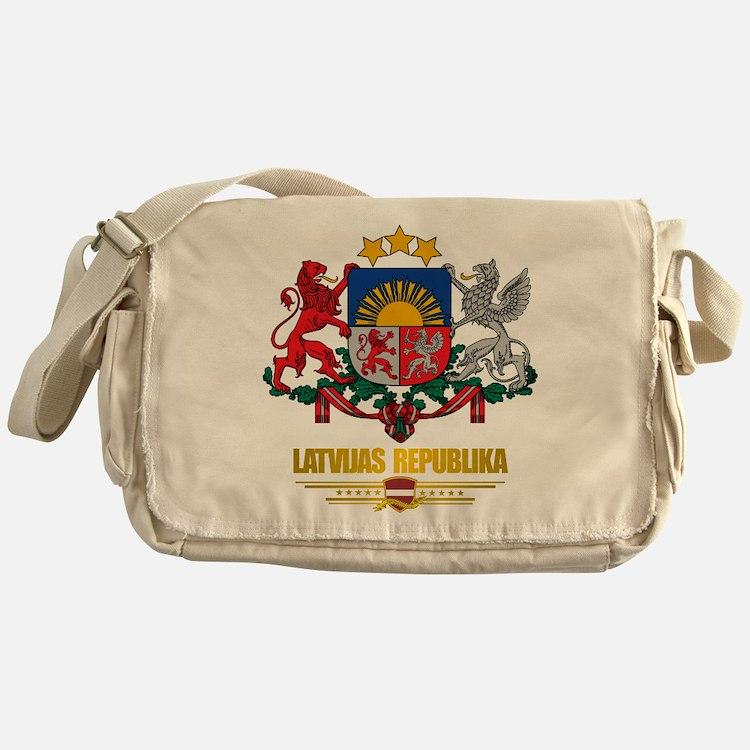 """""""Latvia COA"""" Messenger Bag"""