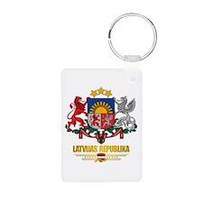 """Latvia COA"" Keychains"