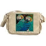 Turquoise Parrots Messenger Bag