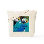 Turquoise Parrots Tote Bag