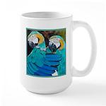 Turquoise Parrots Large Mug