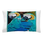 Turquoise Parrots Pillow Case