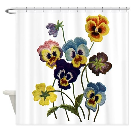 PARADE OF PANSIES Shower Curtain
