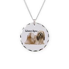 Lhasa Apso Necklace Circle Charm