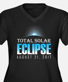 Eclipse 2017 Women's Plus Size V-Neck Dark T-Shirt