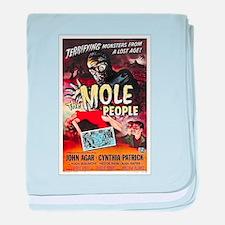 The Mole People baby blanket