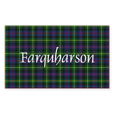 Tartan - Farquharson Sticker (Rectangle)