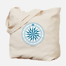 Starry Blue Compass Rose Tote Bag