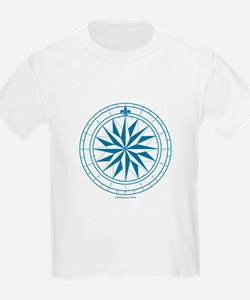 Starry Blue Compass Rose T-Shirt