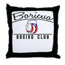 Boricua Boxing Club Throw Pillow