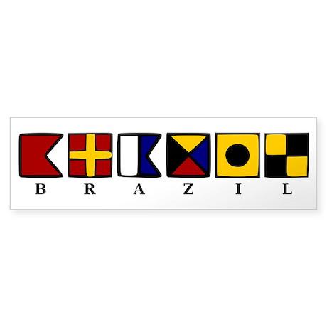 Nautical Brazil Sticker (Bumper)