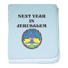 Next year in Jerusalem! baby blanket
