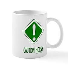 Caution Horny Mug