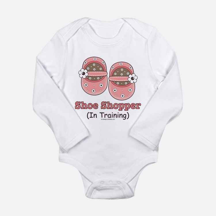 Cute Shopper Long Sleeve Infant Bodysuit