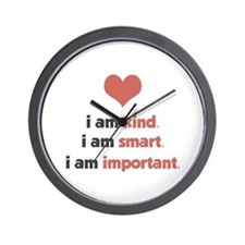 I Am Kind Wall Clock