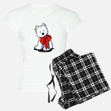 Red Ribbon Westie Pajamas