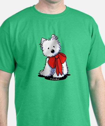Red Ribbon Westie T-Shirt