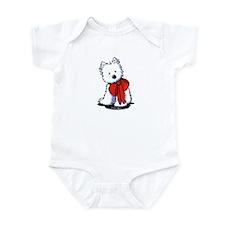 Red Ribbon Westie Infant Bodysuit