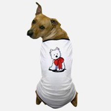 Red Ribbon Westie Dog T-Shirt