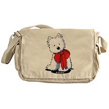 Red Ribbon Westie Messenger Bag