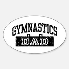 Gymnastics Dad Sticker (Oval)