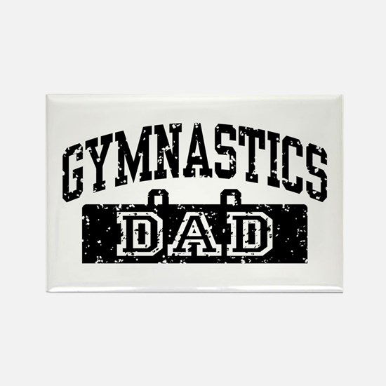 Gymnastics Dad Rectangle Magnet