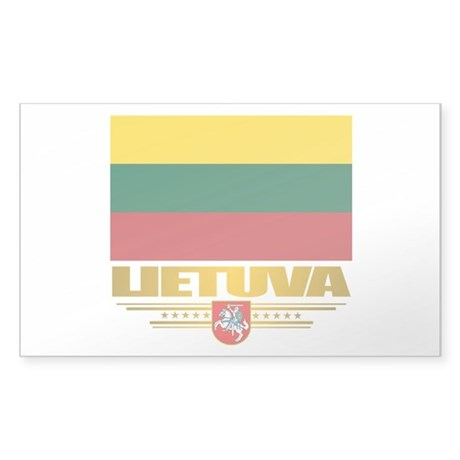 """Lithuania Pride"" Sticker (Rectangle)"