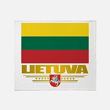 """Lithuania Pride"" Throw Blanket"