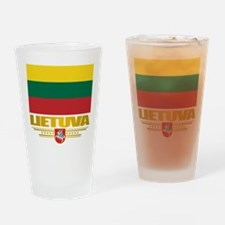 """""""Lithuania Pride"""" Drinking Glass"""