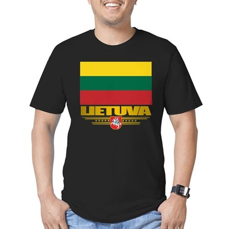 """""""Lithuania Pride"""" Men's Fitted T-Shirt (dark)"""
