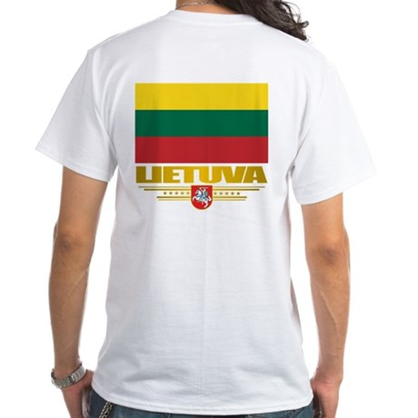 """Lithuania Pride"" White T-Shirt"