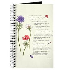 Khalil Gibran Poem with Anemones Journal