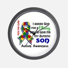 Blessing 4 Autism Wall Clock