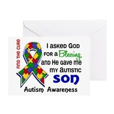 Blessing 4 Autism Greeting Card