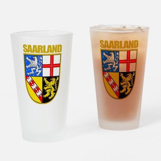 """""""Saarland COA"""" Drinking Glass"""