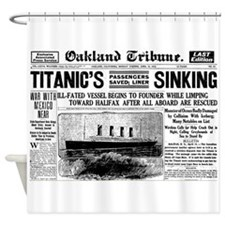 Passengers Saved, Liner Sinking Shower Curtain