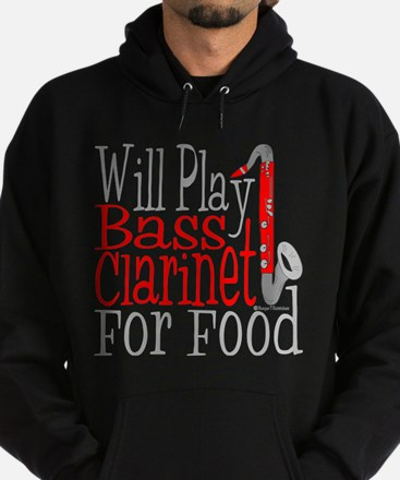 Will Play Bass Clarinet Hoodie (dark)