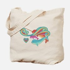 Groovy Narwhal Family Tote Bag